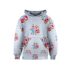 Cute Shabby Chic Floral Pattern Kids  Pullover Hoodie by 8fugoso