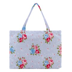 Cute Shabby Chic Floral Pattern Medium Tote Bag by 8fugoso