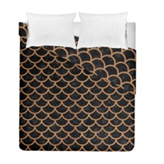 Scales1 Black Marble & Light Maple Wood Duvet Cover Double Side (full/ Double Size) by trendistuff