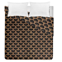 Scales3 Black Marble & Light Maple Wood Duvet Cover Double Side (queen Size) by trendistuff