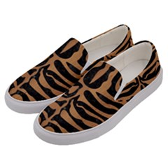 Skin2 Black Marble & Light Maple Wood Men s Canvas Slip Ons by trendistuff