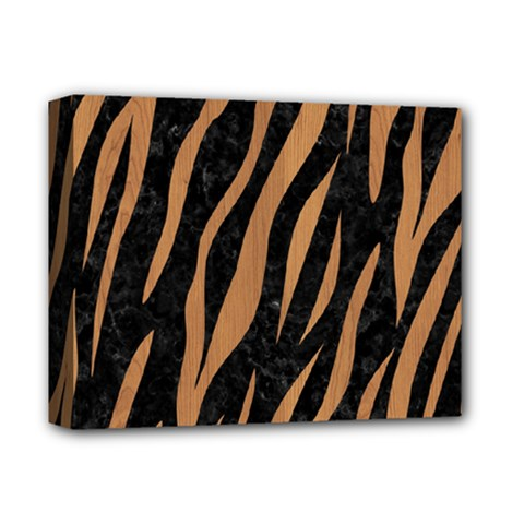 Skin3 Black Marble & Light Maple Wood Deluxe Canvas 14  X 11  by trendistuff