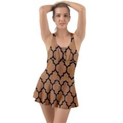 Tile1 Black Marble & Light Maple Wood (r) Swimsuit
