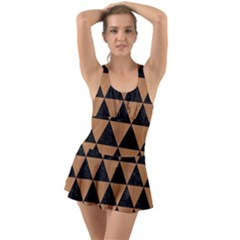 Triangle3 Black Marble & Light Maple Wood Swimsuit