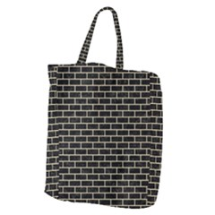 Brick1 Black Marble & Light Sand Giant Grocery Zipper Tote by trendistuff