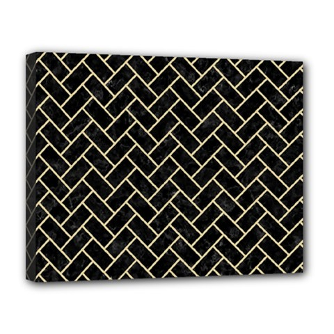 Brick2 Black Marble & Light Sand Canvas 14  X 11  by trendistuff