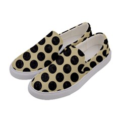 Circles1 Black Marble & Light Sand (r) Women s Canvas Slip Ons by trendistuff