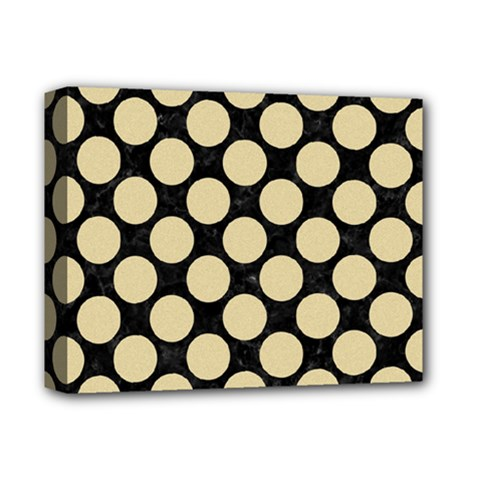 Circles2 Black Marble & Light Sand Deluxe Canvas 14  X 11  by trendistuff