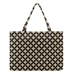 Circles3 Black Marble & Light Sand (r) Medium Tote Bag by trendistuff