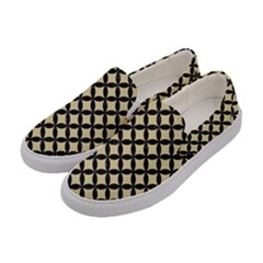 Circles3 Black Marble & Light Sand (r) Women s Canvas Slip Ons by trendistuff