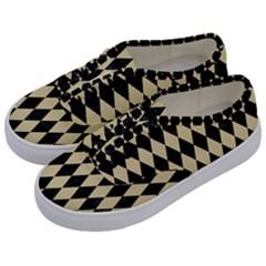Diamond1 Black Marble & Light Sand Kids  Classic Low Top Sneakers by trendistuff