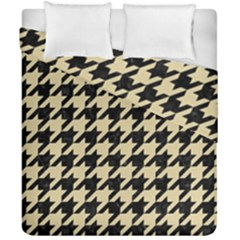 Houndstooth1 Black Marble & Light Sand Duvet Cover Double Side (california King Size) by trendistuff