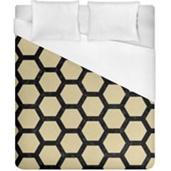 Hexagon2 Black Marble & Light Sand (r) Duvet Cover (california King Size) by trendistuff