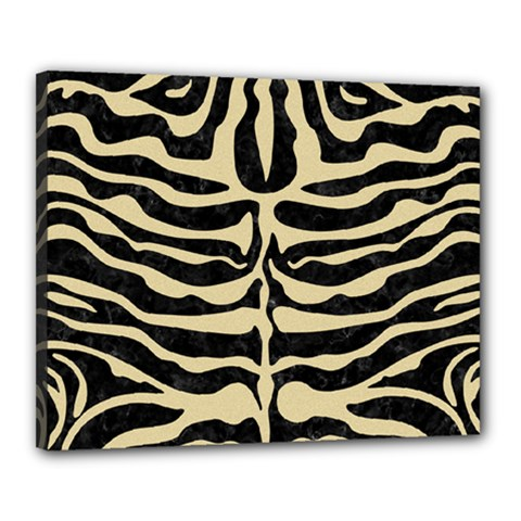 Skin2 Black Marble & Light Sand Canvas 20  X 16  by trendistuff