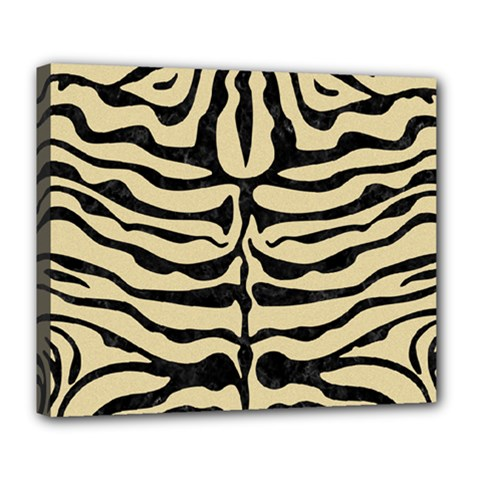 Skin2 Black Marble & Light Sand (r) Deluxe Canvas 24  X 20   by trendistuff