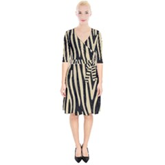 Skin4 Black Marble & Light Sand (r) Wrap Up Cocktail Dress by trendistuff