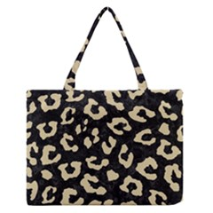 Skin5 Black Marble & Light Sand (r) Zipper Medium Tote Bag