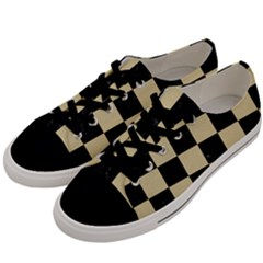 Square1 Black Marble & Light Sand Men s Low Top Canvas Sneakers by trendistuff