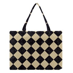 Square2 Black Marble & Light Sand Medium Tote Bag by trendistuff