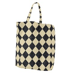 Square2 Black Marble & Light Sand Giant Grocery Zipper Tote