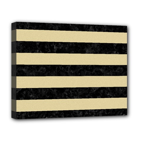 Stripes2 Black Marble & Light Sand Deluxe Canvas 20  X 16   by trendistuff
