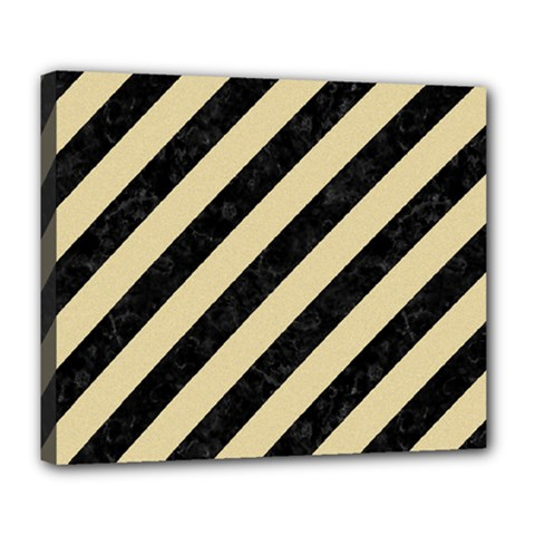 Stripes3 Black Marble & Light Sand Deluxe Canvas 24  X 20   by trendistuff
