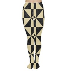 Triangle1 Black Marble & Light Sand Women s Tights by trendistuff