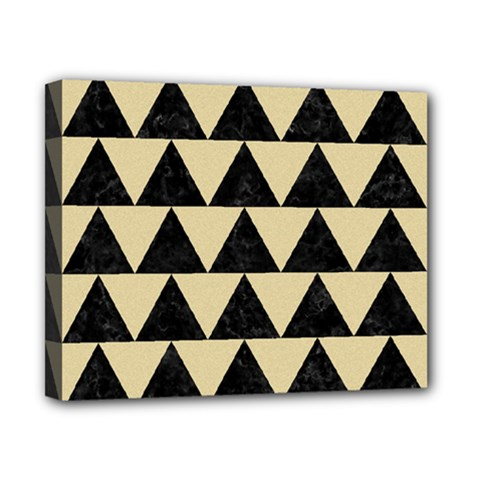 Triangle2 Black Marble & Light Sand Canvas 10  X 8  by trendistuff