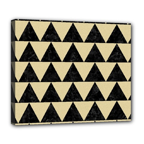 Triangle2 Black Marble & Light Sand Deluxe Canvas 24  X 20   by trendistuff