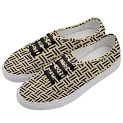 Woven1 Black Marble & Light Sand (r) Women s Classic Low Top Sneakers by trendistuff