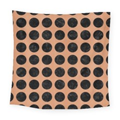 Circles1 Black Marble & Natural Red Birch Wood (r) Square Tapestry (large) by trendistuff