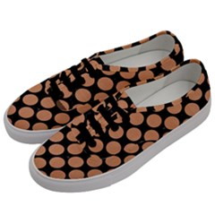 Circles2 Black Marble & Natural Red Birch Wood Men s Classic Low Top Sneakers by trendistuff