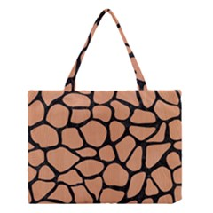 Skin1 Black Marble & Natural Red Birch Wood Medium Tote Bag by trendistuff