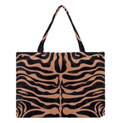 Skin2 Black Marble & Natural Red Birch Wood Medium Tote Bag by trendistuff