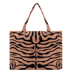 Skin2 Black Marble & Natural Red Birch Wood (r) Medium Tote Bag by trendistuff