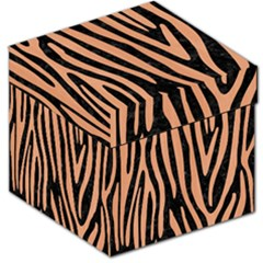 Skin4 Black Marble & Natural Red Birch Wood (r) Storage Stool 12   by trendistuff