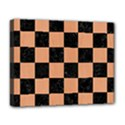 SQUARE1 BLACK MARBLE & NATURAL RED BIRCH WOOD Deluxe Canvas 20  x 16   View1