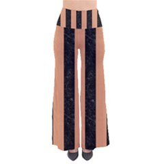 Stripes1 Black Marble & Natural Red Birch Wood Pants by trendistuff