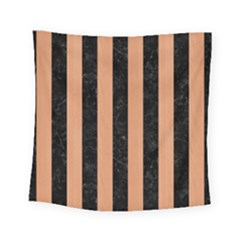 Stripes1 Black Marble & Natural Red Birch Wood Square Tapestry (small) by trendistuff