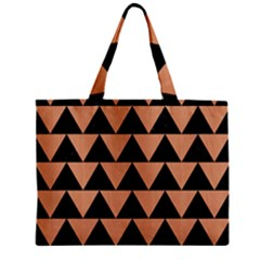 Triangle2 Black Marble & Natural Red Birch Wood Zipper Mini Tote Bag by trendistuff