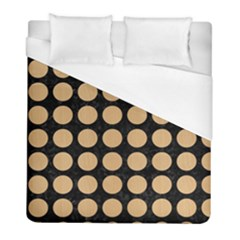 Circles1 Black Marble & Natural White Birch Wood Duvet Cover (full/ Double Size) by trendistuff