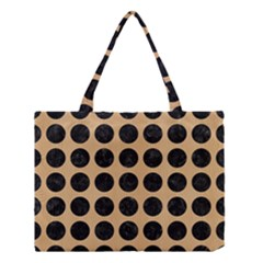 Circles1 Black Marble & Natural White Birch Wood (r) Medium Tote Bag by trendistuff