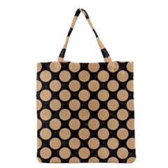 Circles2 Black Marble & Natural White Birch Wood Grocery Tote Bag by trendistuff