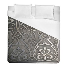 Art Nouveau Silver Duvet Cover (full/ Double Size) by 8fugoso