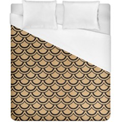 Scales2 Black Marble & Natural White Birch Wood (r) Duvet Cover (california King Size) by trendistuff