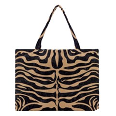 Skin2 Black Marble & Natural White Birch Wood Medium Tote Bag by trendistuff