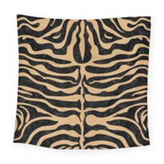 Skin2 Black Marble & Natural White Birch Wood Square Tapestry (large) by trendistuff