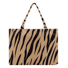 Skin3 Black Marble & Natural White Birch Wood (r) Medium Tote Bag by trendistuff