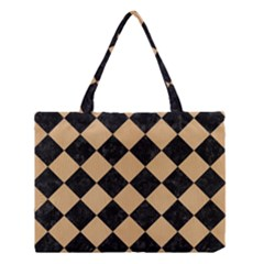 Square2 Black Marble & Natural White Birch Wood Medium Tote Bag by trendistuff