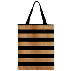Stripes2 Black Marble & Natural White Birch Wood Zipper Classic Tote Bag by trendistuff